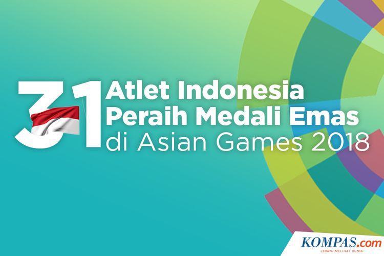 31 Atlet Indonesia Peraih Medali Emas di Asian Games 2018