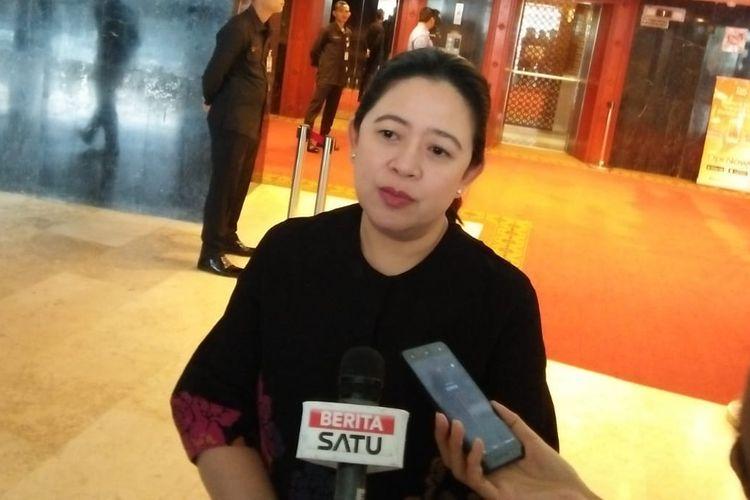 Ketua DPR RI Puan Maharani di Kompleks Parlemen, Senayan, Jakarta, Senin (28/10/2019).