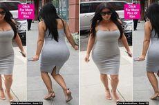 Hamil Muda Kenakan Sepatu Hak Tinggi, Kim Kardashian Nyaris Terjatuh