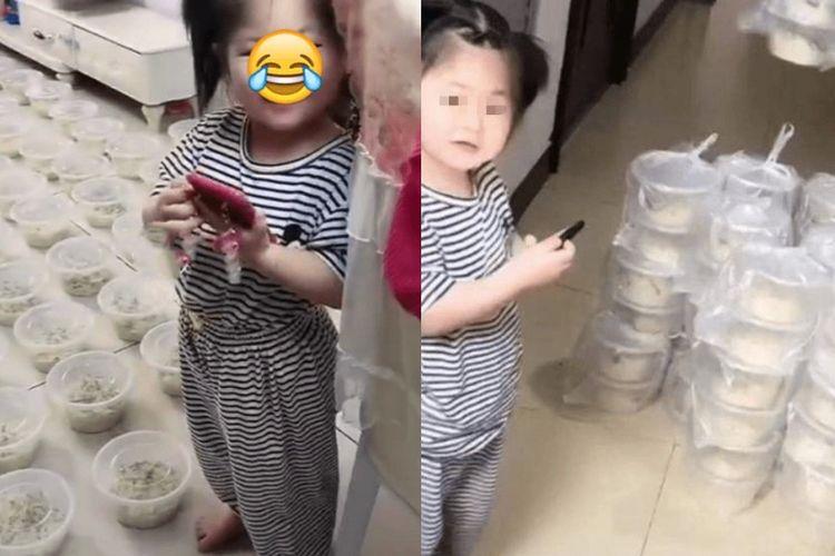 Seorang balita berusia 3 tahun di kota Jilin, China, tak sengaja memesan 100 porsi mi secara online dari ponsel ayahnya pada Selasa (15/6/2021). Si balita tak sengaja menekan dua angka nol tambahan, sehingga total harga pesanan 1.350 yuan (Rp 3 juta).