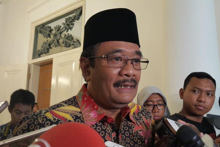 Pelaksana Tugas (Plt) Gubernur DKI Jakarta Djarot Saiful Hidayat di Balai Kota DKI Jakarta, Jalan Medan Merdeka Selatan, Kamis (18/5/2017).