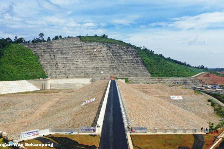 Kementerian PUPR telah menyelesaikan pembangunan Bendungan Way Sekampung