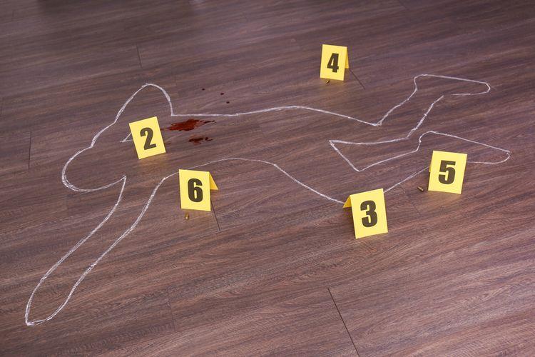 Ilustrasi korban pembunuhan, tempat kejadian perkara