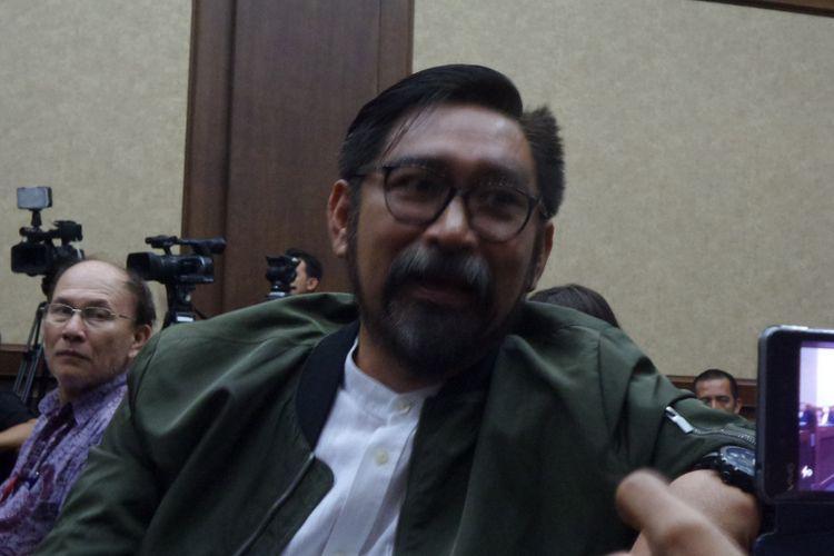 Andi Zulkarnain Mallarangeng alias Choel Mallarangeng  di Pengadilan Tipikor Jakarta, Kamis (6/7/2017).