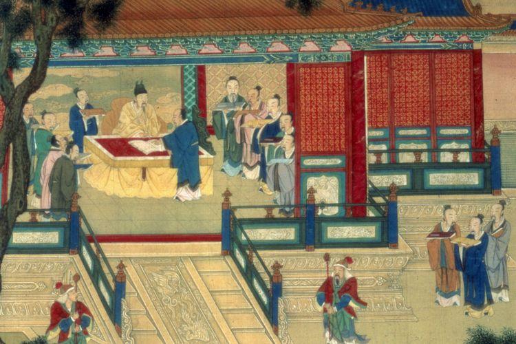 Ilustrasi suasana di China pada masa Dinasti Han.