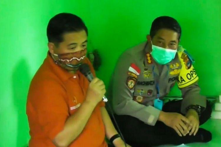 Wali Kota Banjarmasin, Ibnu Sina, melakukan mediasi dengan warga Kompleks Bumi Indah Lestari, Rabu (15/4/2020).
