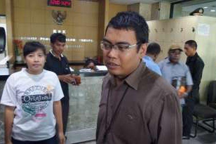 Kepala Bagian Pemberitaan dan Publikasi KPK Priharsa Nugraha di Gedung KPK Jakarta, Rabu (21/9/2016).