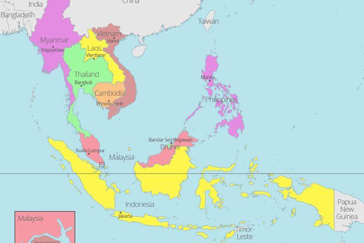 Peta negara-negara ASEAN