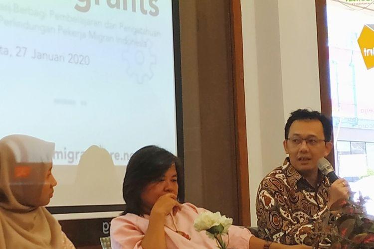 Komisioner Komnas HAM Beka Ulung Hapsara dalam diskusi di Cikini,Jakarta Pusat, Senin (27/1/2020).