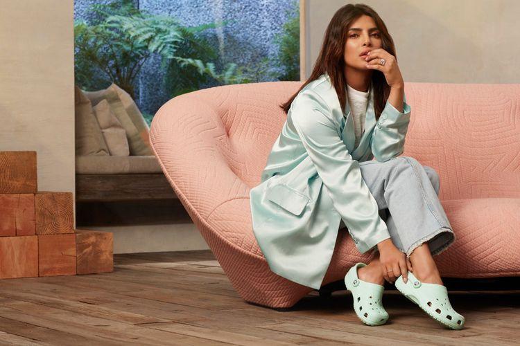 Priyanka Chopra Wearing Crocs