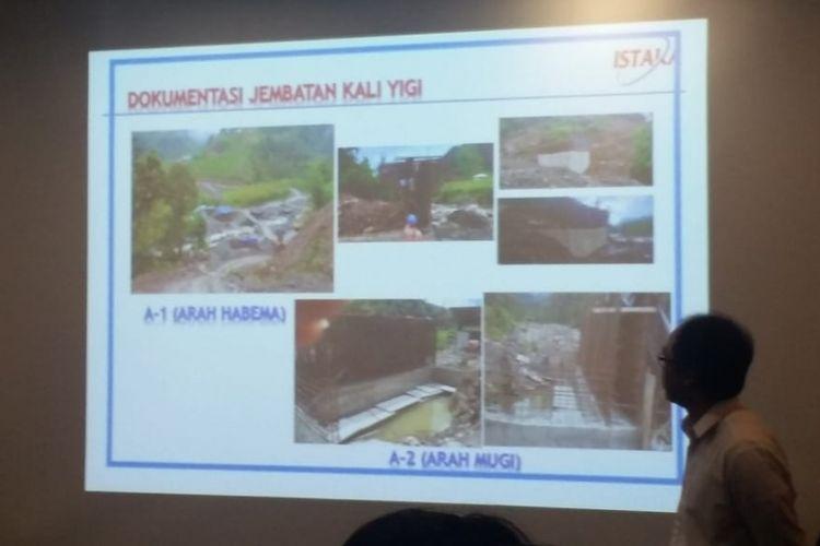 Kondisi proyek Jembatan Kali Yigi