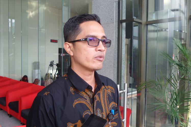 Juru Bicara KPK Febri Diansyah di Gedung KPK Jakarta, Selasa (20/6/2017).