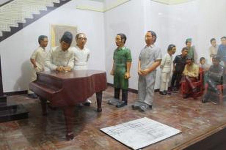 Museum Joang 45 yang berlokasi di di dalam Gedung Joang '45, Jl. Menteng Raya 31, Jakarta, merupakan catatan sejarah mengenai berbagai peristiwa menjelang kemerdekaan RI, Minggu (17/1/2016).