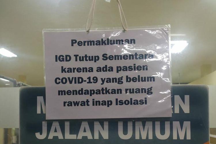 Ruang IGD RSUD Wangaya ditutup untuk pasien umum