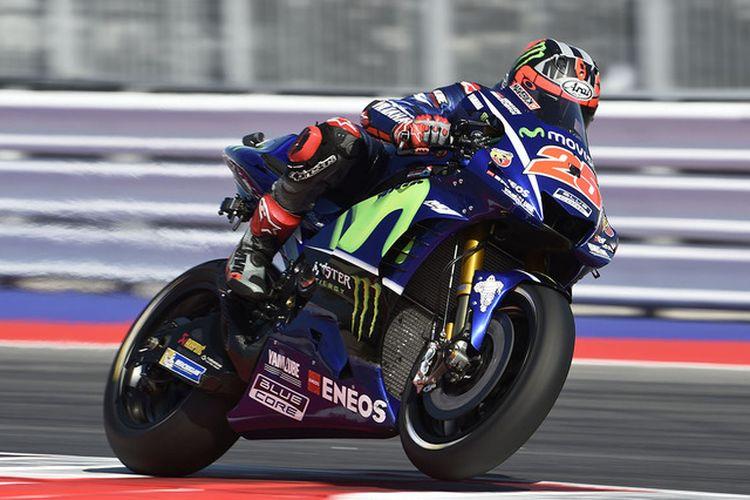 Maverick Vinales berhasil mencapai pole position di Misano 2017.
