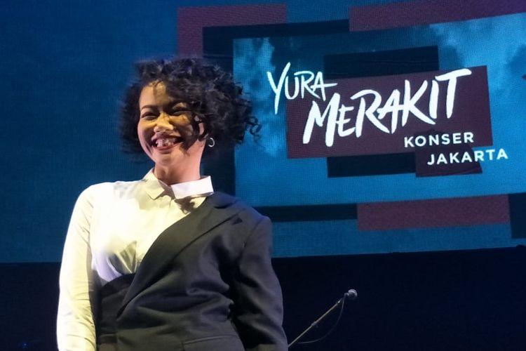 Yura Yunita saat ditemui sebelum konser Merakit Konser Jakarta, di Balai Sarbini, Jakarta Selatan, Kamis (25/4/2019).