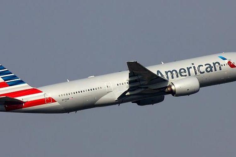 Pesawat AA717 dari Muenchen, Jerman, ke Philadelphia, AS, mendarat darurat di Manchester, Inggris, Rabu (4/5/2016) sore.