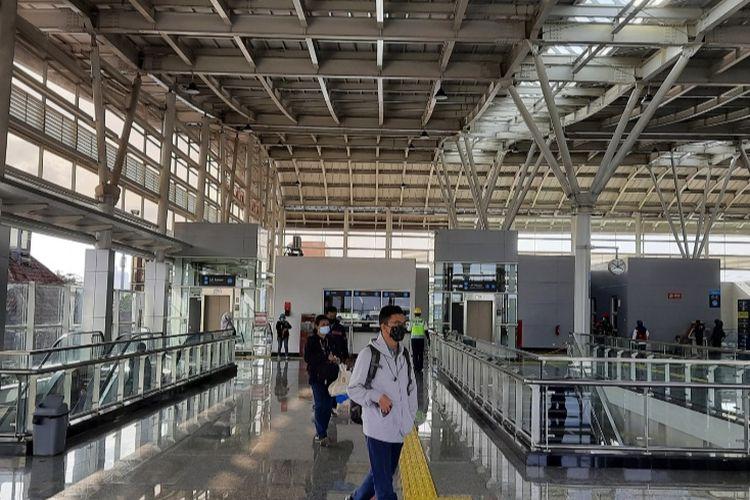 Stasiun Jatinegara kini memiliki wajah baru. Gambar diambil pada Kamis (17/12/2020).