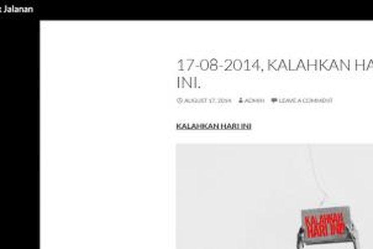 Screenshot situs Institut Musik Jalanan