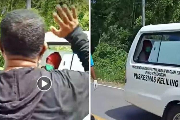 Viral di media sosial video sejumlah warga di Desa Kairatu, Kabupaten Seram Bagian Barat, Maluku, mendoakan seorang bidan yang diduga terpapar Covid-19.(tangkapan layar)