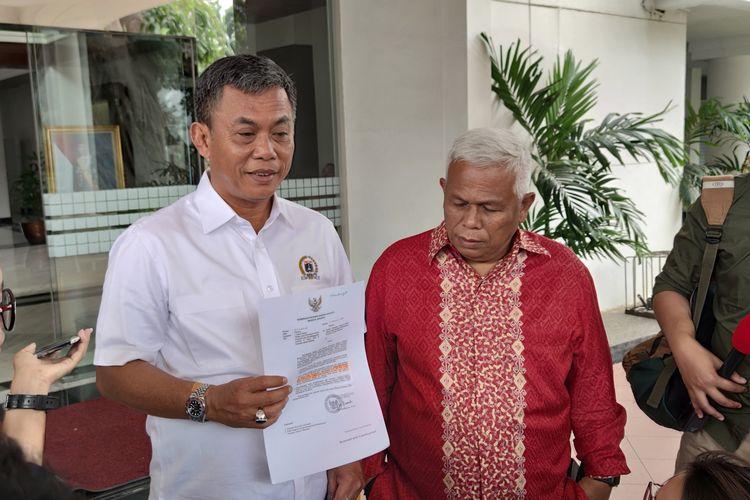 Ketua DPRD DKI Jakarta Prasetyo Edi Marsudi di Istana Kepresidenan, Jakarta, Kamis (13/2/2020).