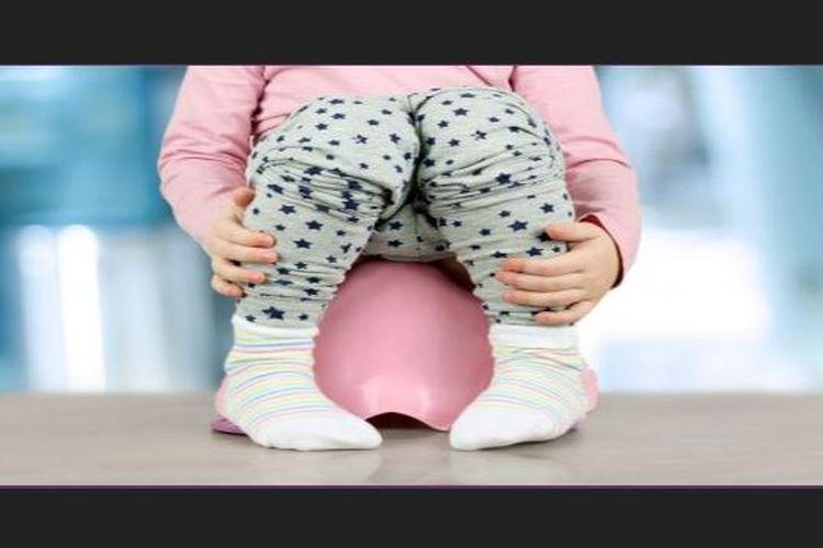 Ilustrasi Infeksi Saluran Kemih (ISK) pada anak-anak.