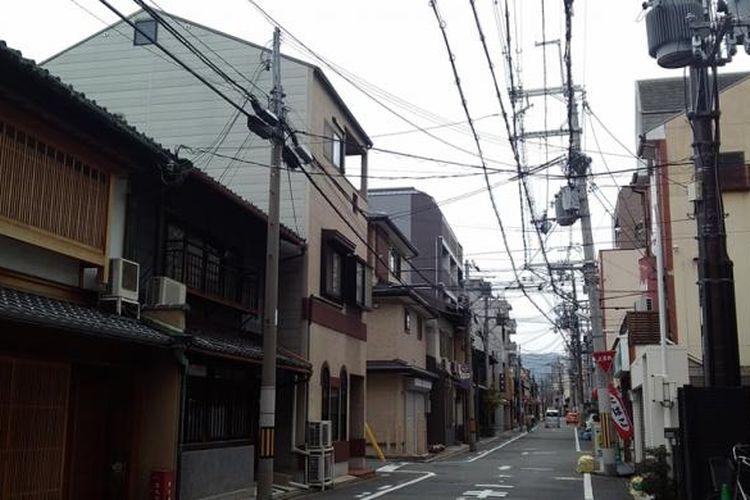 Salah satu daerah pemukiman di Kyoto, Jepang