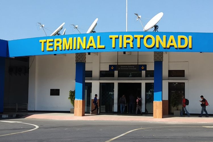 Terminal Tipe A Tirtonadi Solo, Jawa Tengah, Rabu (22/5/2019).