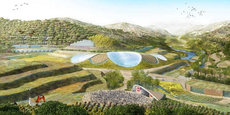 Eden Project oleh Grimshaw Architects