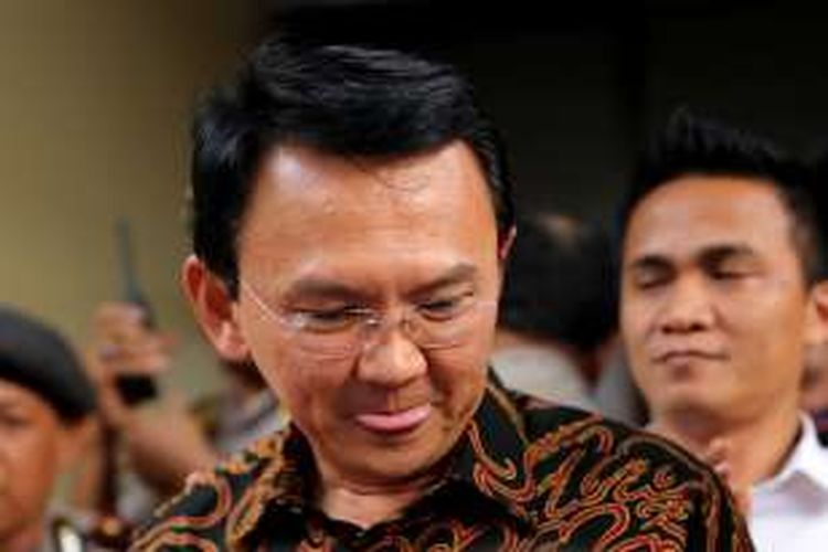 Gubernur DKI Jakarta Basuki Tjahaja Purnama alias Ahok kembali diperiksa penyidik terkait kasus penistaan agama di Bareskrim Polri, Jakarta, Senin (7/11/2016).Bareskrim Polri menetapkan Ahok sebagai tersangka dalam kasus dugaan penistaan agama, Rabu 16 November 2016.