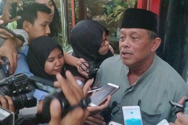 Anggota Dewan Pembina Partai Gerindra Djoko Santoso saat ditemui di kantor DPP Partai Gerindra, Jakarta Selatan, Senin (20/8/2018).