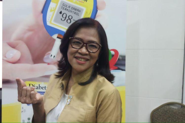 Dokter spesialis gizi klinik di RSCM, Dr. dr. Fiastuti Witjaksono, MS, MSc, SpGK (K) seusai acara diskusi bertajuk Gerakan Lawan Diabetes Bersama Dia di Lotte Shopping Avenue, Kuningan, Jakarta Selatan, Rabu (13/11/2019).