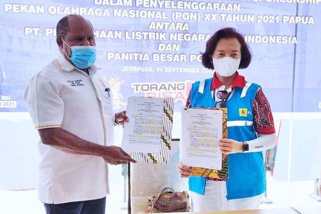 Selain Dana Sponsor Rp 5 Miliar, PLN Investasi Rp 300 Miliar untuk Dukung PON XX Papua