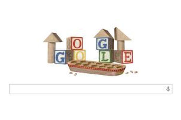 Doodle Google di Hari Anak Nasional 2014 menampilkan permainan Congklak.