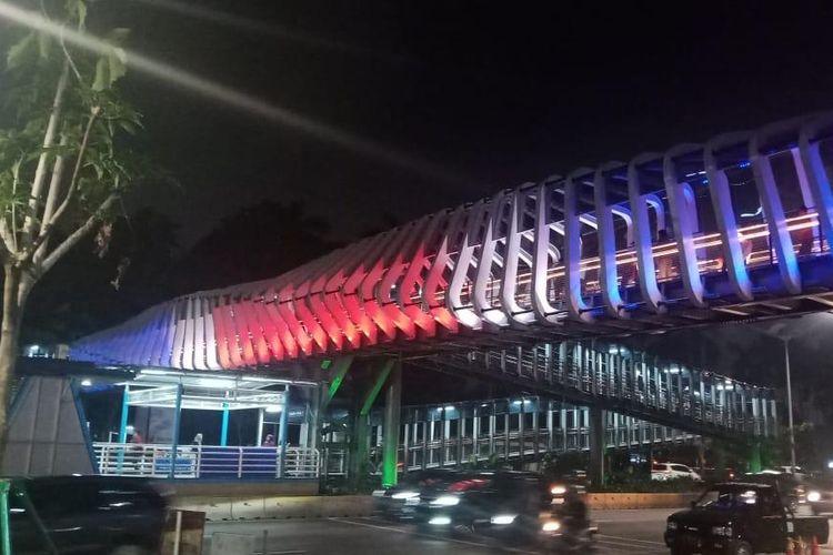JPO GBK, Jakarta pada Jumat (15/3/2019) malam.
