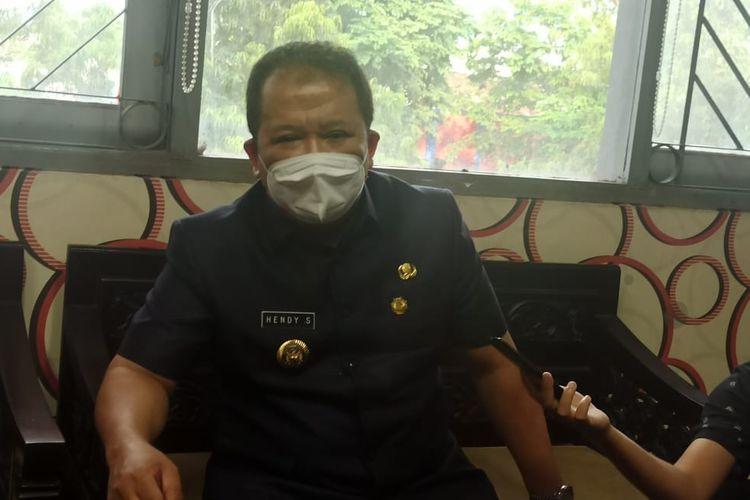 Bupati Jember Hendy Siswanto  saat ditemui di DPRD Jember