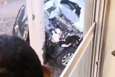 Mobil Tertabrak KRL di Perlintasan Rel TPU Tanah Kusir, Kaca Pecah dan Bemper Ringsek