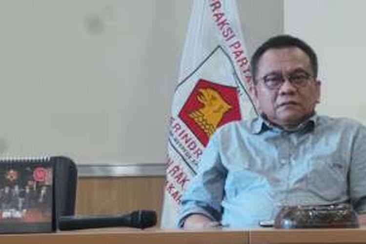 Wakil Ketua DPRD DKI Jakarta Mohamad Taufik menanggapi soal anggota DPRD Fraksi Gerindra Muhammad Sanusi yang menjadi target Operasi Tangkap Tangan KPK, Jumat (1/4/2016).