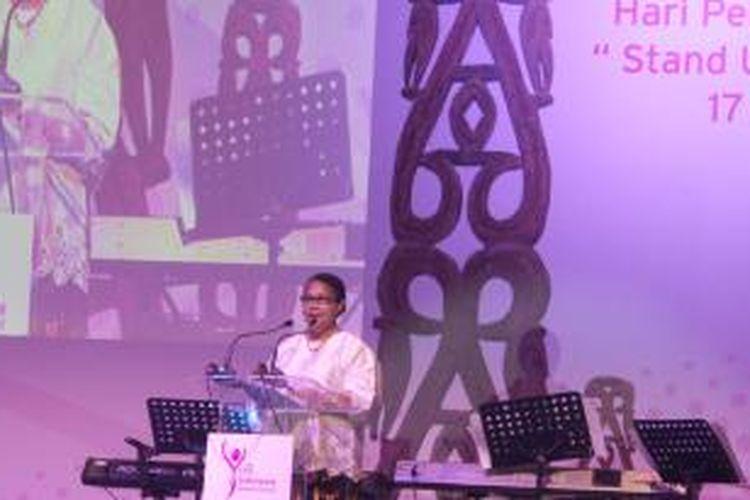 Menteri Pemberdayaan Perempuan dan Perlindungan Anak RI Yohana Susana Yembise pada acara Citi Peringatan Hari Perempuan Sedunia di Bapindo Plaza, Selasa (17/3/2015).
