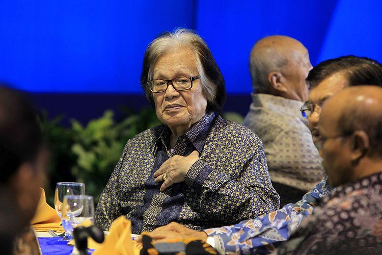 [ARSIP] Pemimpin Umum Harian Kompas, Jacob Oetama hadir pada perayaan syukuran dan peluncuran buku HUT Ke-50 Harian Kompas di Bentara Budaya Jakarta, Minggu (28/6/2015). Pendiri Kompas Gramedia, Jakob Oetama (88) meninggal dunia di Rumah Sakit Mitra Keluarga Kelapa Gading, Jakarta, Rabu (9/9/2020).