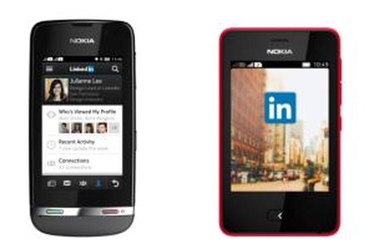 Aplikasi LinkedIn di Nokia Asha 311 dan Asha 501
