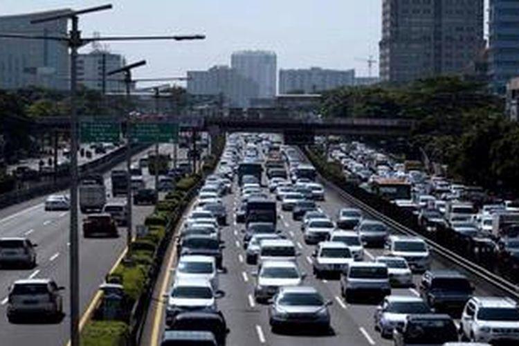 Ilustrasi jalan tol dalam kota