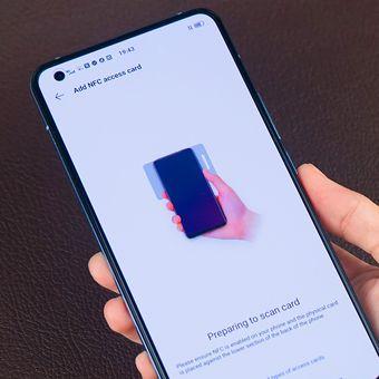 Vivo X50 bisa berperan sebagai kartu akses berkat teknologi NFC di dalamnya