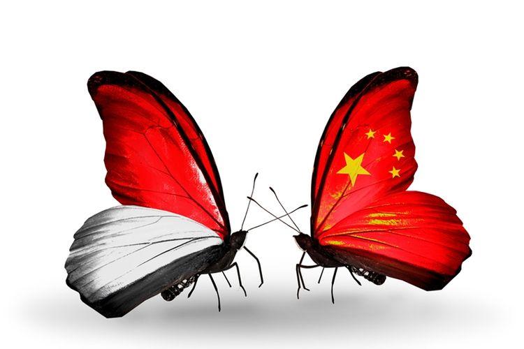 Ilustrasi hubungan erat Indonesia dan China.