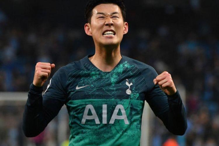 Son Heung-min menjadi pemain Asia paling produktif di ajang Liga Champions, Kamis (18/4/2019)
