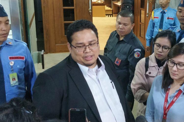 Komisioner Badan Pengawas Pemilu (Bawaslu) Rahmat Bagja saat ditemui di Kompleks Parlemen, Senayan, Jakarta, Senin (3/9/2018).