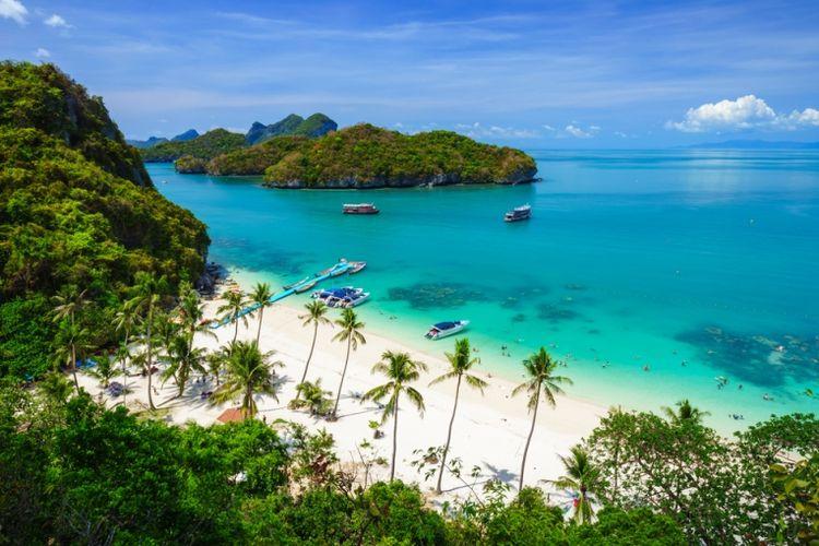 Taman laut nasional Angthong di Koh Samui, Suratthani, Thailand. (Shutterstock)