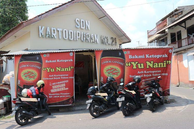 Lokasi warung makan Bakmi Ketoprak Yu Nani di Solo, Jawa Tengah.