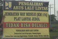 Jembatan Mesuji Ambles, Mobil Kecil Bisa Masuk Tol Kayuagung-Lampung