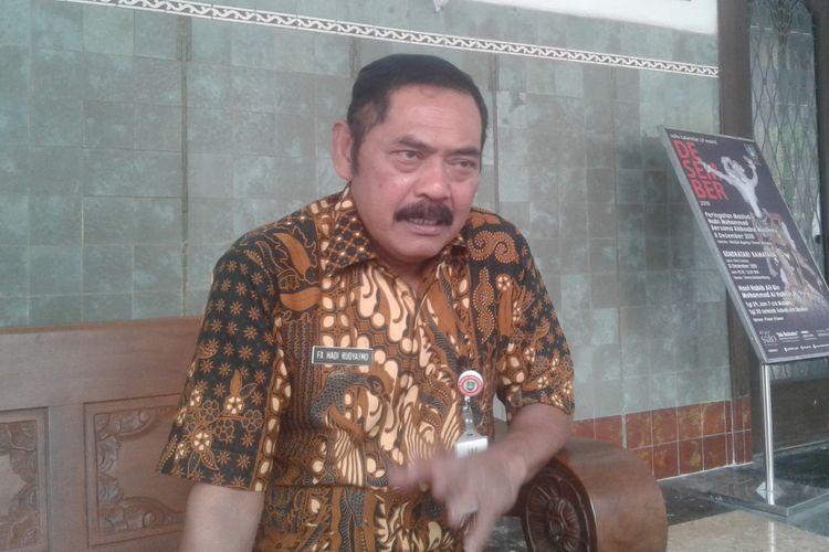 Wali Kota Surakarta FX Hadi Rudyatmo ditemui di rumah dinasnya Loji Gandrung Jalan Slamet Riyadi Solo, Jawa Tengah, Selasa (4/12/2018).